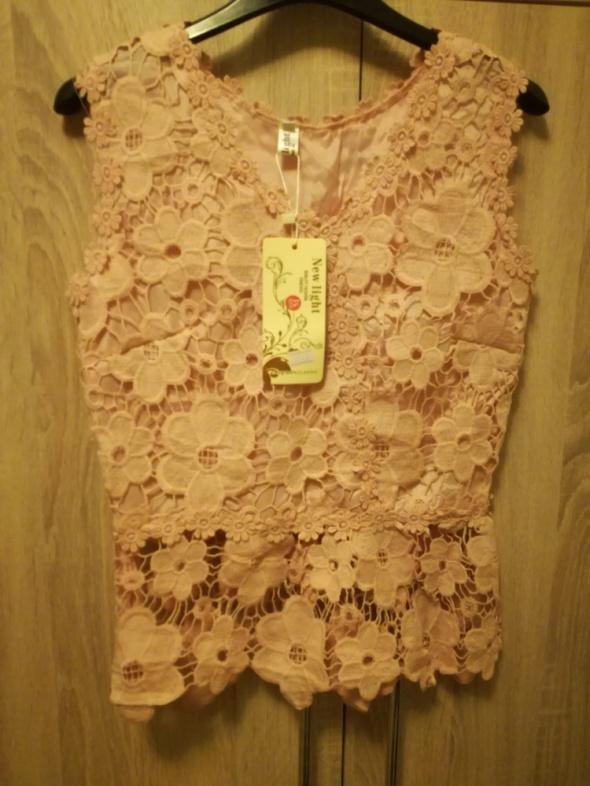 Komplecik różowy spódnica bluzka