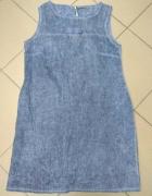 Sukienka bawełniana niebieska jeans L 40...
