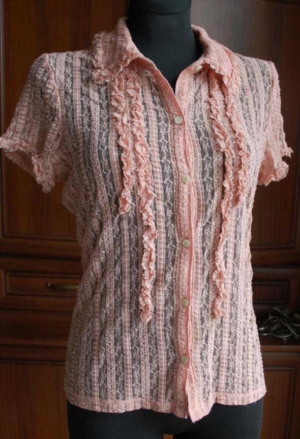koronkowa łososiowa bluzka M S