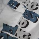 Cropp białe spodenki męskie szorty bermudy wzor print L