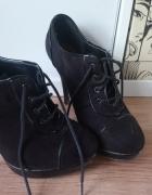 Czarne botki New Look...