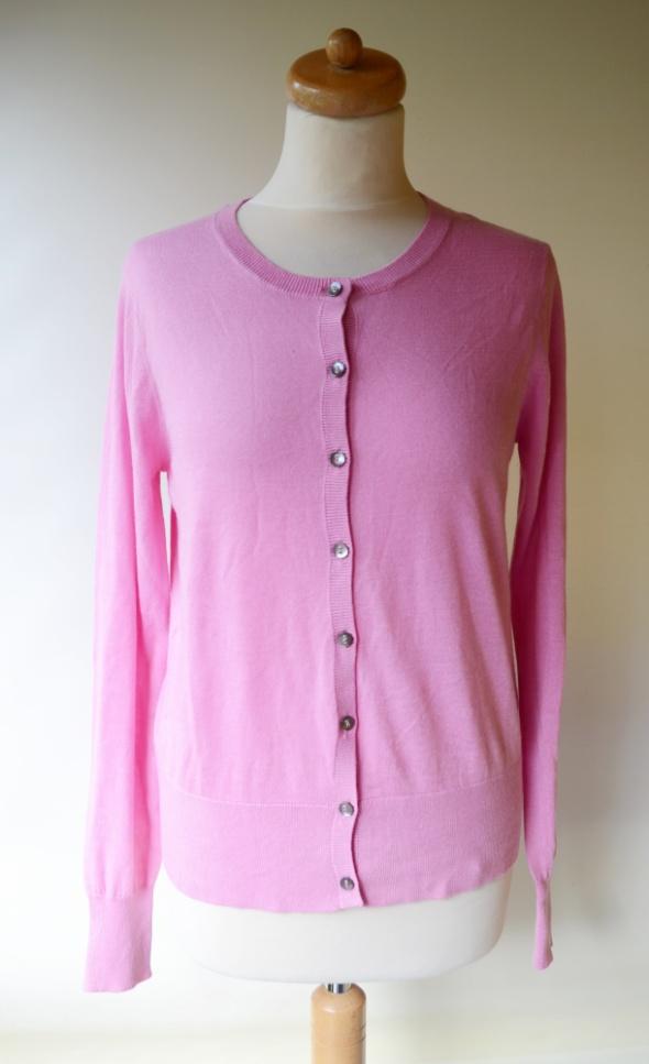 Sweter Różowy Guziki XL 42 Cukierowy Róż Inwear...