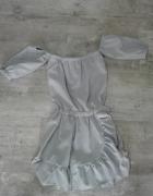 Sukienka mini odsłonięte ramiona hiszpanka wesele impreza okazjonalna panieński 36 34 S XS rozmiar