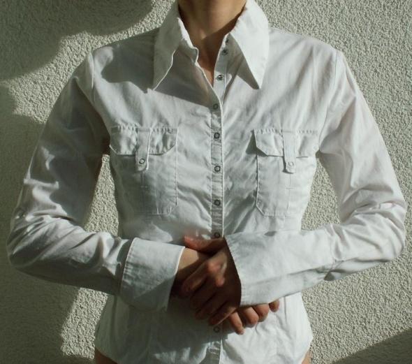 SOLAR piękna biała koszula XS jak nowa