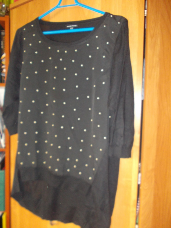 Sweterek bluzka w groszki Warehouse 38 M...