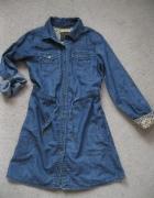 sukienka jeans jbc 134 granatowa...