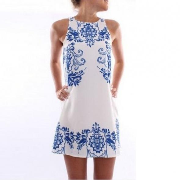 NOWA Sukienka biała lato mini boho...