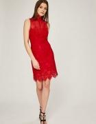 Sukienka koronkowa GUESS czerwona l 40