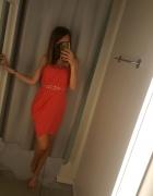 Nowa elegancka czerwona sukienka top shop s