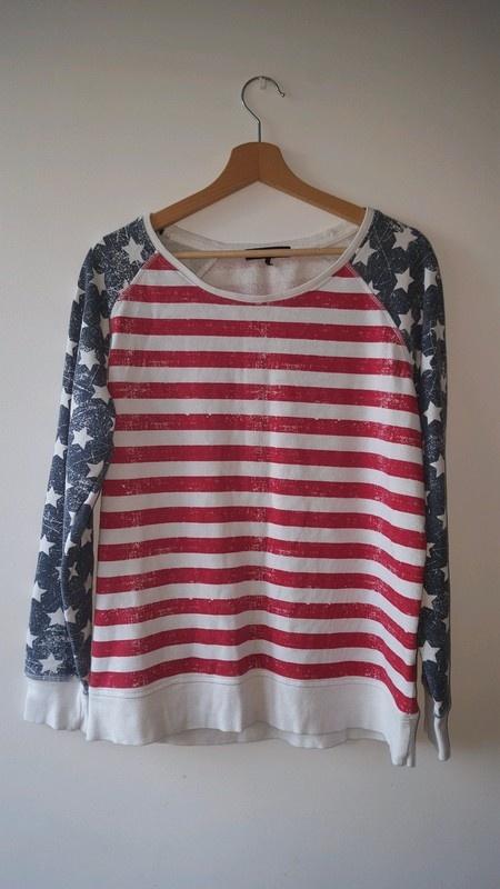 Bluzy Bluza amerykańska flaga oversize Cubus M