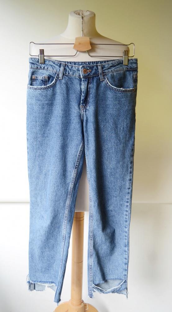 Spodnie Spodnie Jeans Dzinsowe Wystrzępione Cubus XS 34 Girlfriend