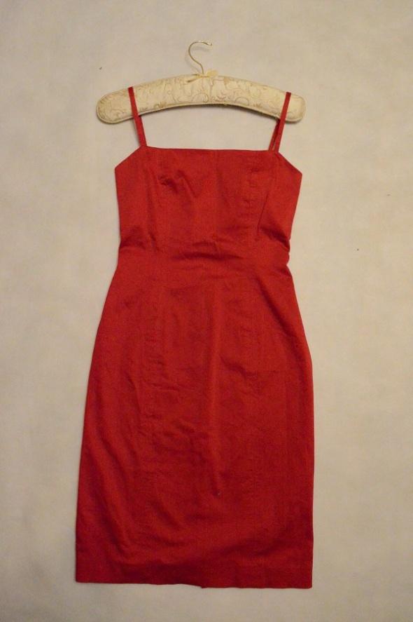 Czerwona sukienka ZARA S 36