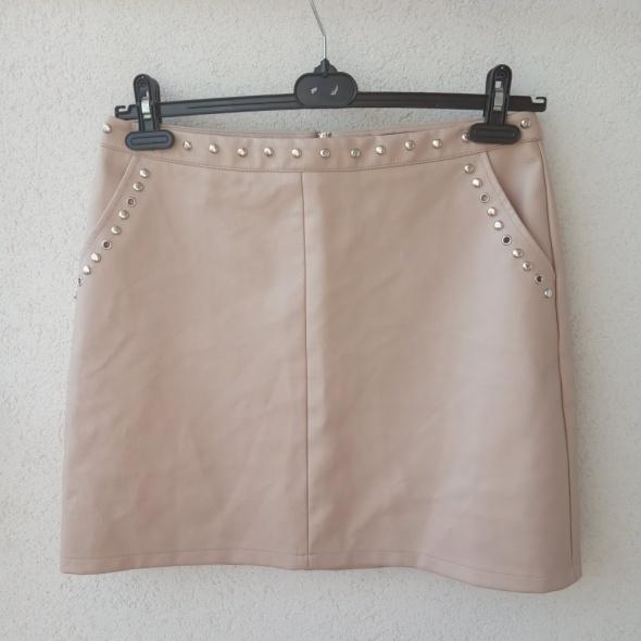 primark trapezowa spódnica ekoskóra dżety 42 UK 14