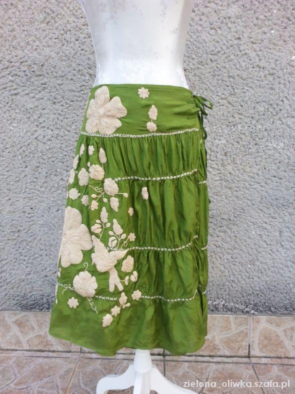 Spódnice Day zakładana spódnica z haftem