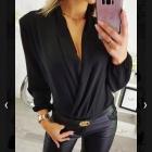 bluzka elegancka body bordowa
