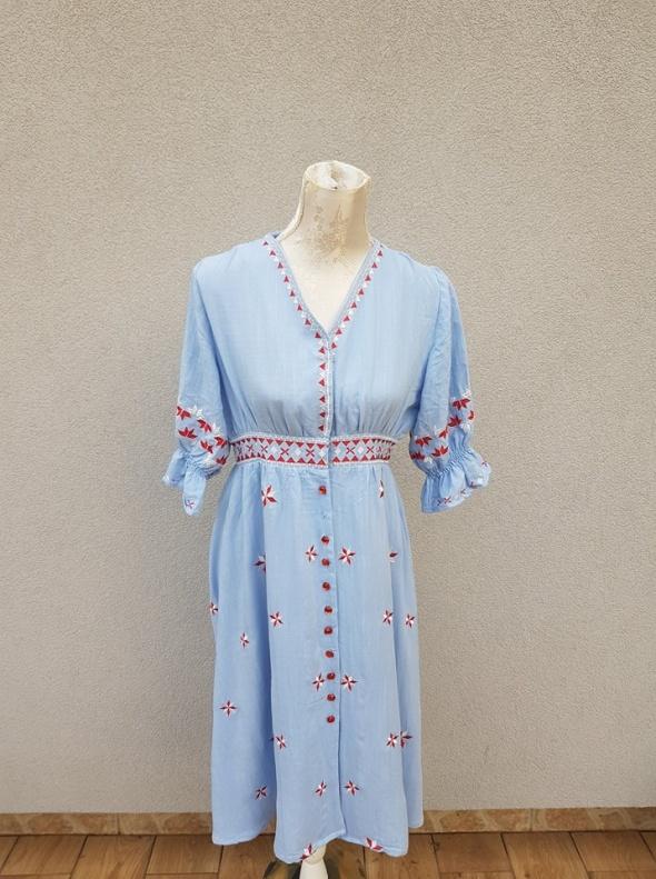 Suknie i sukienki Sukienka w stylu boho etno z lat 70