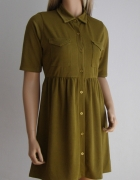 sukienka szmizjerka italia kieszenie BooHoo 38 M khaki...