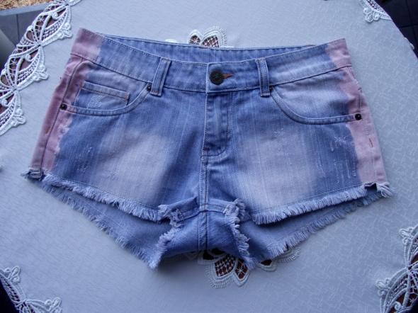 Spodenki Krótkie spodenki szorty jeansowe jasnoniebieskie strzępione New Yorker 40 L
