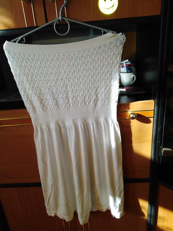 Sukienka biała stan idealny ocean Club primark rozmiar z metki l