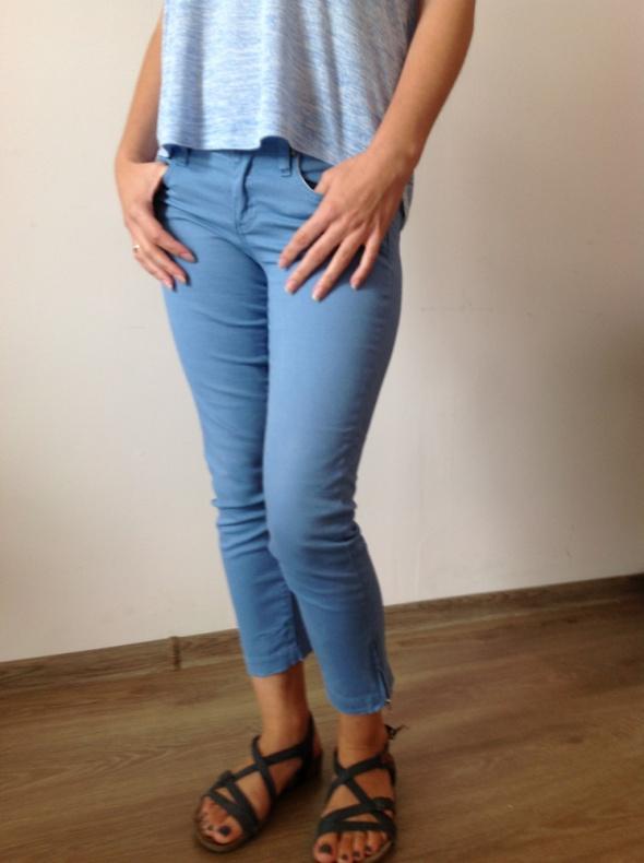 Spodnie rurki niebieskie...