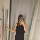 Nowa czarna sukienka z falbanka boohoo s