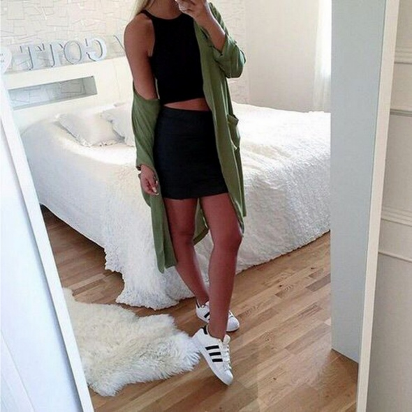 Modna czarna spódnica mini bandage bandażowa H&M 36 S