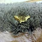 Broszki Srebrna broszka z tygrysim okiem płatek śniegu gołąb