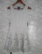 Cjgart biała bawełniana sukienka w kwiaty haftowana wyszywana 3...