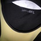Atmosphere czarno żółta sukienka pianka neopren bodycon dopasowana M