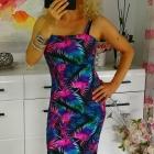sukienka kolorowe liście