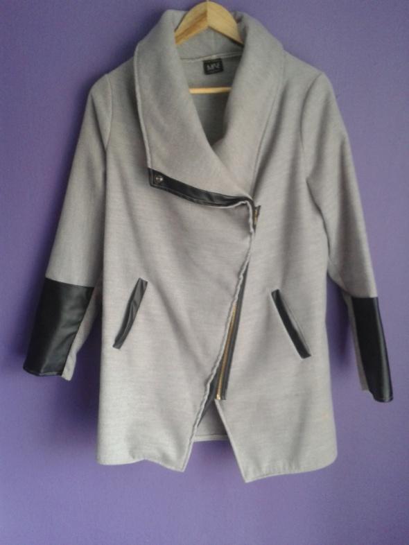 Płaszcz flauszowy eco skóra