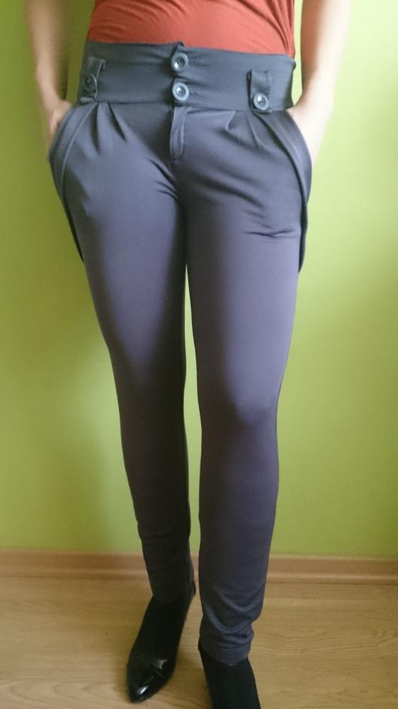 Spodnie legginsy grafitowe