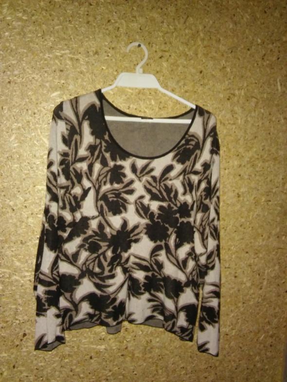 Miękki sweter we wzory z dekoltem 44 46...