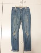 Zara jeansy dzinsy boyfriend girlfriend z dziurami poszarpane z...