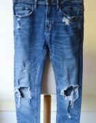 Spodnie Dziury Jeans Zara Man M 38 Przetarcia Zip...