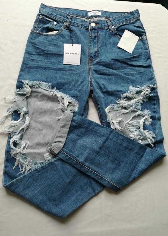 Spodnie Spodnie jeans dziury nowe