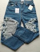 Spodnie jeans dziury nowe...