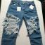Spodnie jeans dziury nowe