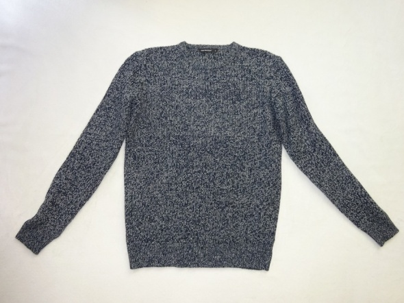 Swetry ciepły granatowy sweter zimowy gruby na zimę roz L