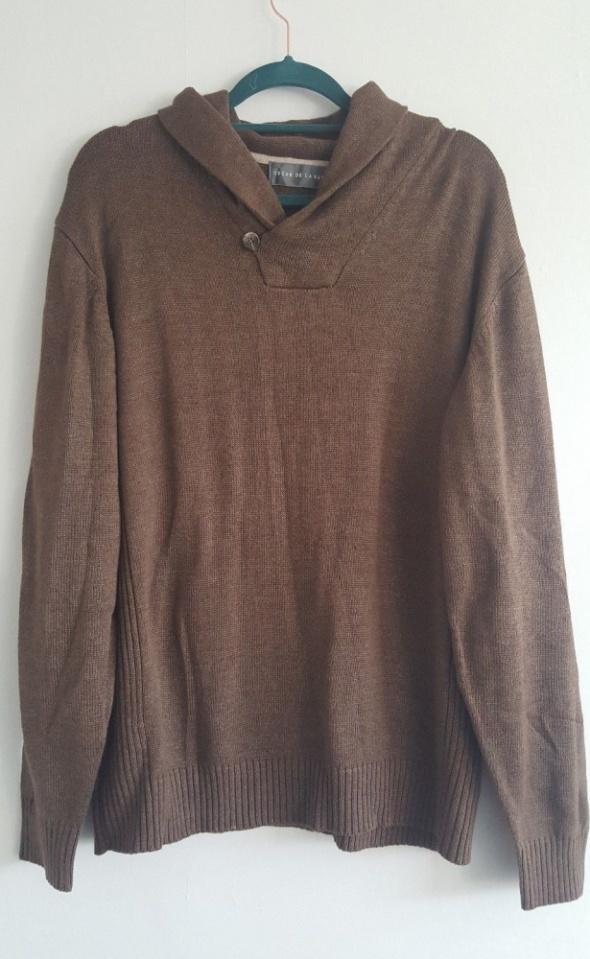 OSCAR DE LA RENTA Brązowy męski sweter XL...