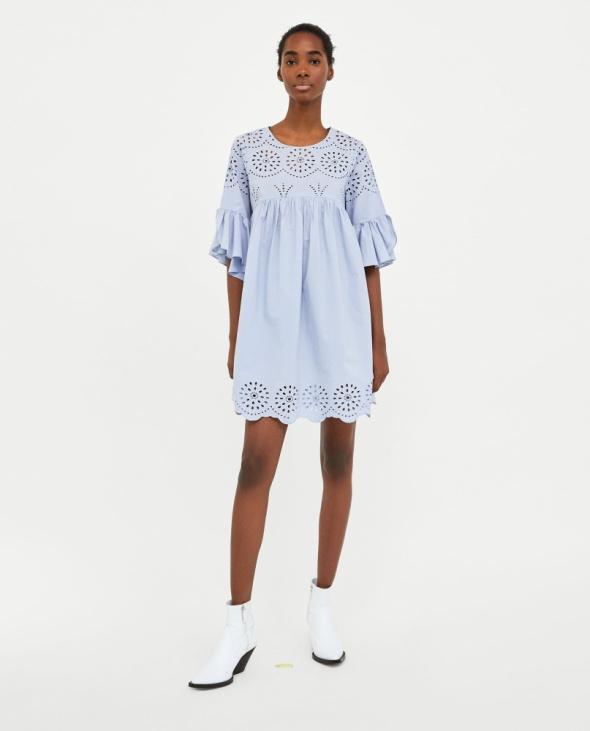 Blekitna sukienka Zara rozm XS