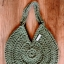 Torba Salvia na ramię handmade rękodzieło sznurek zielona szałwia pizza bag