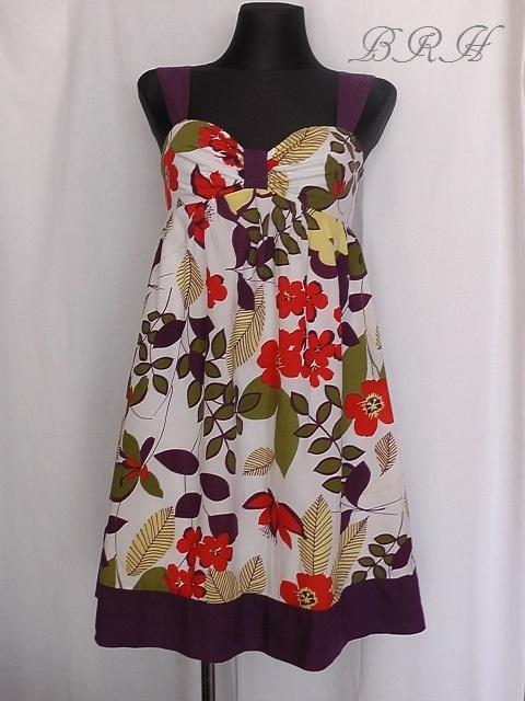 Spódnice sukienka w kwiaty na ramiączkach
