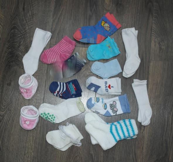 Rajstopy i skarpetki 14 par skarpetek dla niemowlaka 50 56