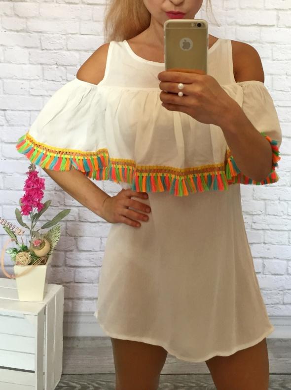 sukieneczka indiana fredzelki biel