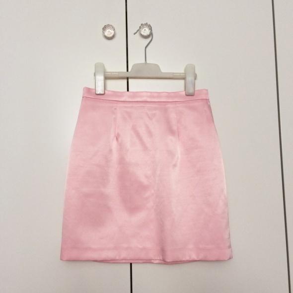 River Island spódnic różowa połyskująca elegancka 36
