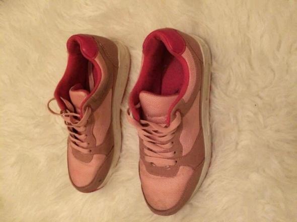 różowe adidasy trampki wysokie sportowe stylizowane na nike air...