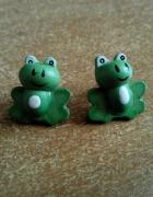 kolczyki żabki...