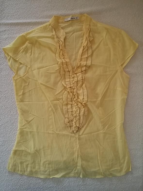Bluzki Reserved Elegancka bluzka z żabotem żółta 38 40