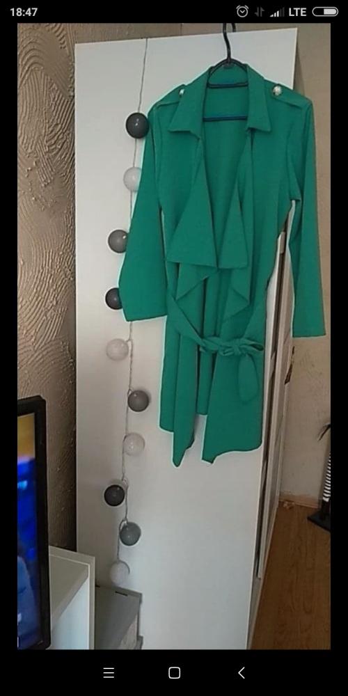 Nowa zielona narzutka...